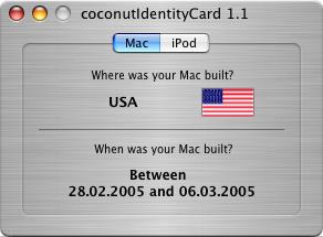 Geburtsdaten meines Macs